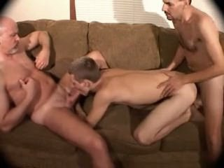 trio 2 old DADS bare FUCK play hairy BOY ass