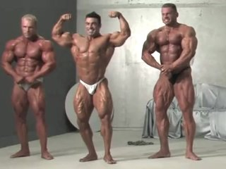 Three Muscle Kings! Eduardo, Con and Evgeny! Wow!