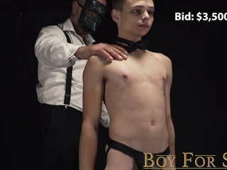 Young twink sold and dominated by daddy monster cock with ba