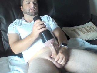 Huge Cock Fucking Fleshlight - Daytime - Cumshot