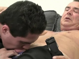 Grandpa has dirty sweaty sex with a hot younger twink