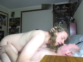 Long hair twink session