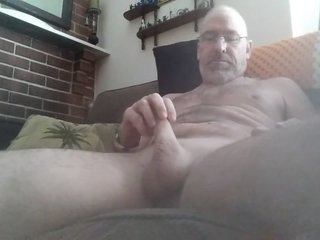 Danruns frontal view close up oozing my cum