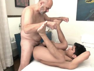 Hairy Grandpa fucks a much younger guy