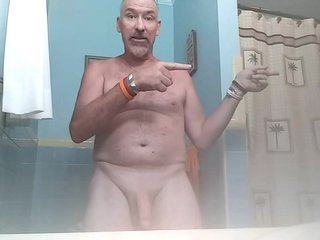 Danrun spurts his cum all over bathroom counter