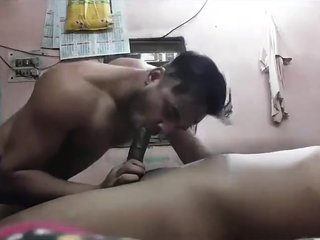 Indian gay is sucking cock and being fucked