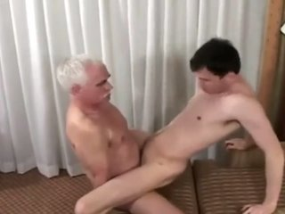 Grandpa fucks a cute twink deep hard and fast
