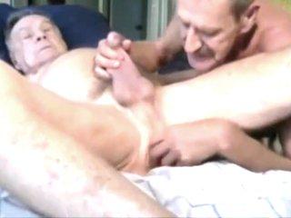Grandpa and Daddy enjoying together