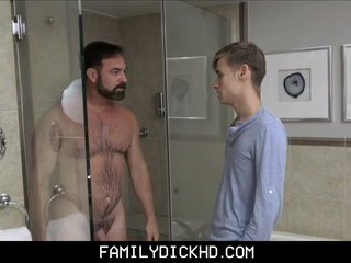 Twink Step Son And Bear Stepdad Sex After Showering Together
