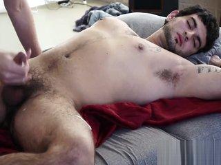 sleeping str8 handsome guy