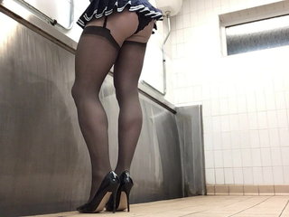 Totally Caught in public toilets by a lorry driver PART 1.