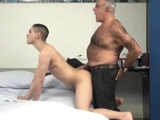 Hairy daddy Fucks a Smooth Twink