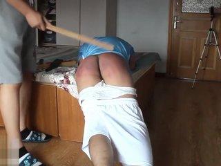 Chinese brutal spanking