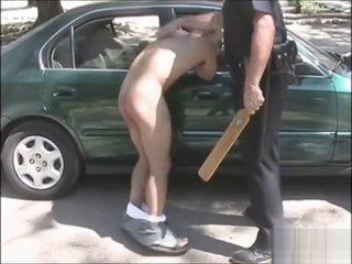 Police Officer Spanks Two Adult Men