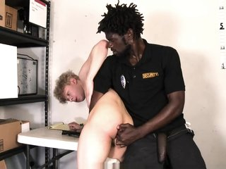 YoungPerps - Hung Black Security Guard Fucks A Cute Straight Teen