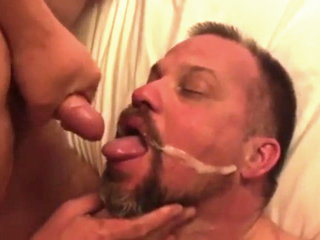 Bears and daddys eating cum