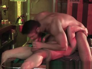 Sexy Hairy Muscle Latino Male Mouth Fucks You At The Bar!