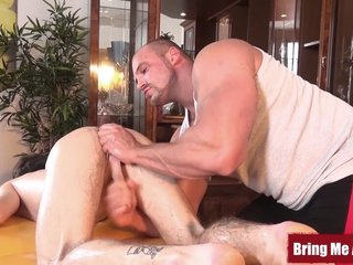 Young Timmy Cooper fingered before jerking off at massage
