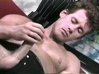 Horny amateur gay clip with Masturbation, Hunk scenes
