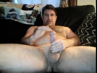 hairy dad has a big fat cock