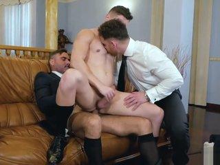 Fabulous porn clip gay Bareback wild pretty one