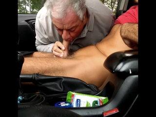 Car park fun - Getting a blowjob in the carpark