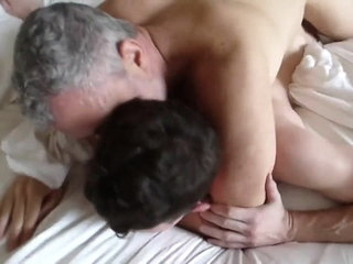 two daddies fuck young man