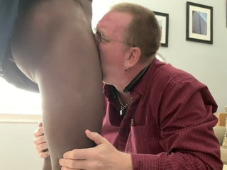 Younger daddy sucking black cock & getting fucked