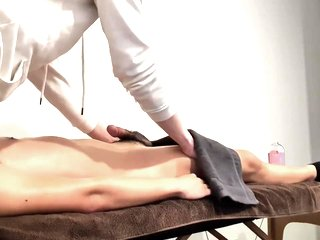 Asian friend gets HARD during massage and starts touching my cock