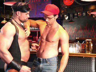 Dirk Caber & Kurtis Wolfe & Nate Grimes & Jaxx Thanatos in Tom Of Finland: Leather Bar Initiation - MenNetwork