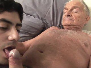 Grandpa fucks young guy