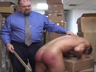 Boss Spanks Lazy Worker