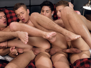 Logan Cross & Brad Chase & Aiden Garcia & Corbin in Four Play - HelixStudios