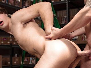 Lukas Grande & Justin Owen in Stockroom Sex - HelixStudios