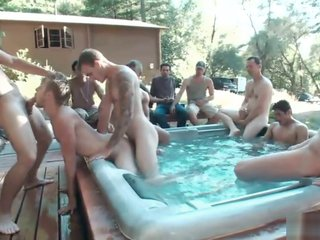 Group Sex - Logan Stevens is turned into a sex slave at a campground (ROUGH