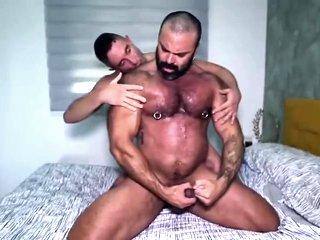Rough Sweaty Sex With Big Bodybuilder Daddy