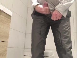 desperate for a pee at work