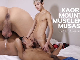Kaoru Mounts Muscleman Musashi - JapanBoyz
