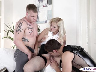 Assfucked stud facialized in mmf trio