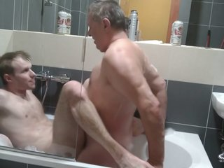 Bath Time With Daddy
