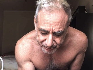Sexy grandpa shoots his load