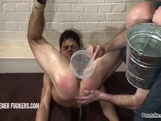 Teen Twink Receives Punished By Two Daddy