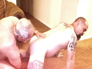 Bearded Daddy With Tattoed Guy