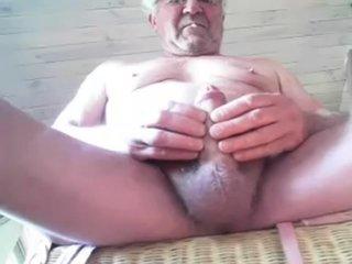 Old Man Stroke On Web Camera