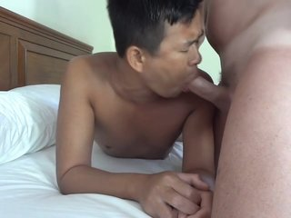 Horny Lao Lad Getting Hammered