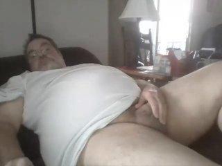 Daddy Strokes On Web Camera