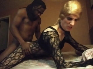 Crossdressing Sissy Faggot fucked by BBC