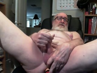 Grandpa cum on webcam 6