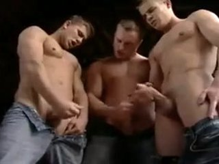 Horny gay scene with Hunk, Bareback scenes