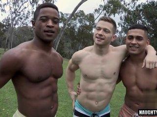 Latin gay flip flop and cumshot